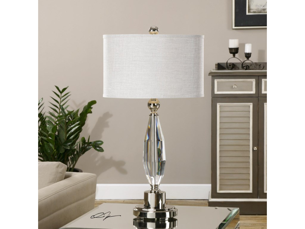Uttermost Table LampsTorlino Cut Crystal Lamp