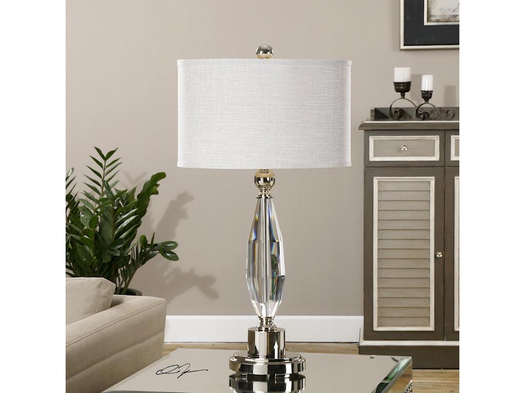 Uttermost Table LampsTorlino Cut Crystal Lamp