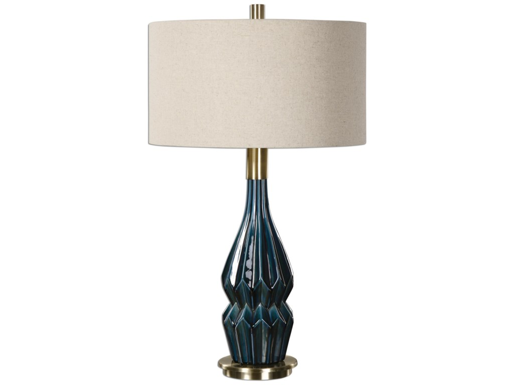 Uttermost Table LampsPrussian Blue Ceramic Lamp