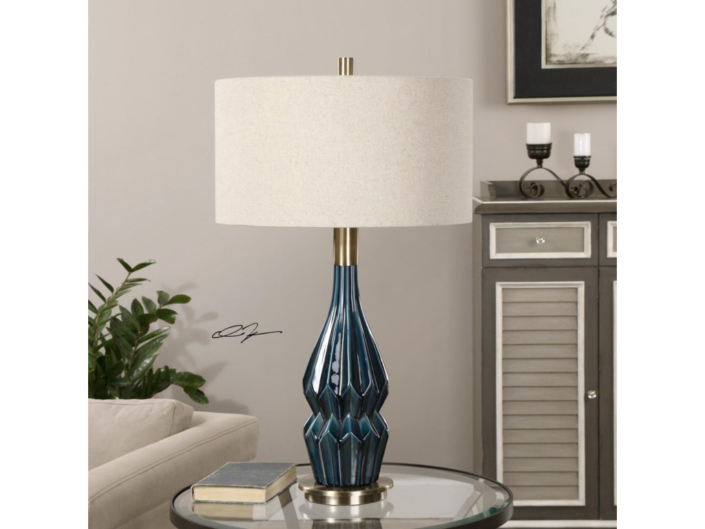 Uttermost LampsPrussian Blue Ceramic Lamp