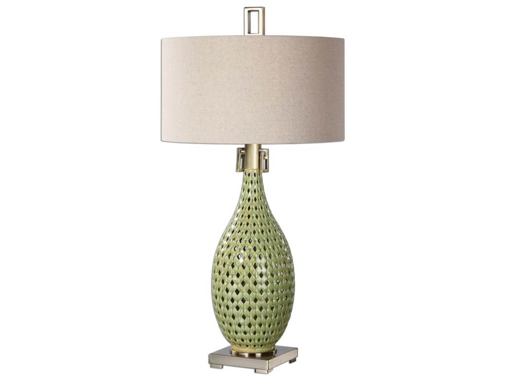 Uttermost Table LampsChamoru Green Glaze Lamp