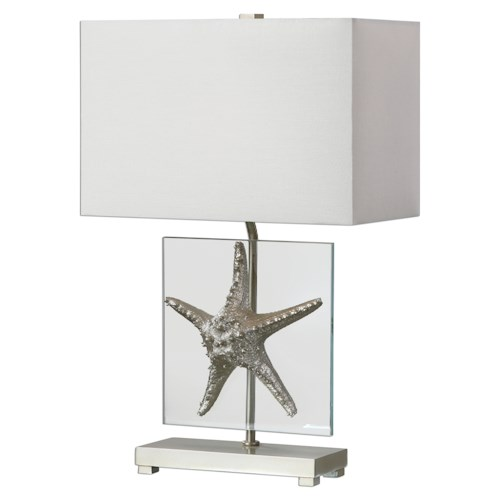 Uttermost Lamps Silver Starfish Table Lamp