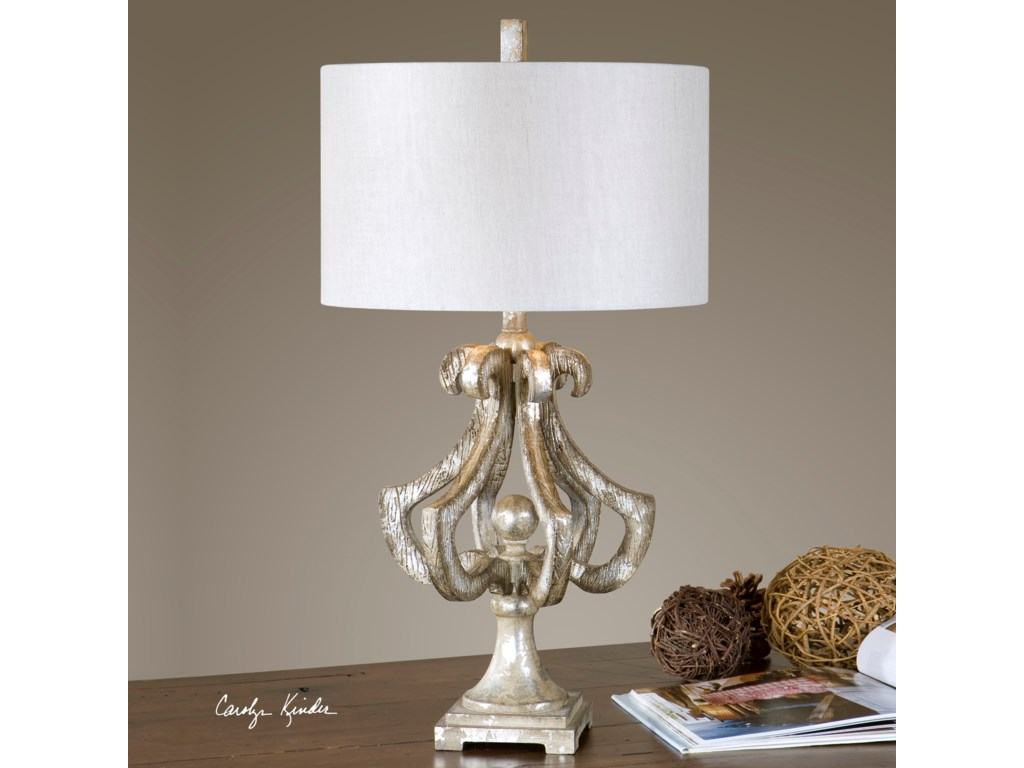 Uttermost Table LampsVinadio Distressed Silver Table Lamp