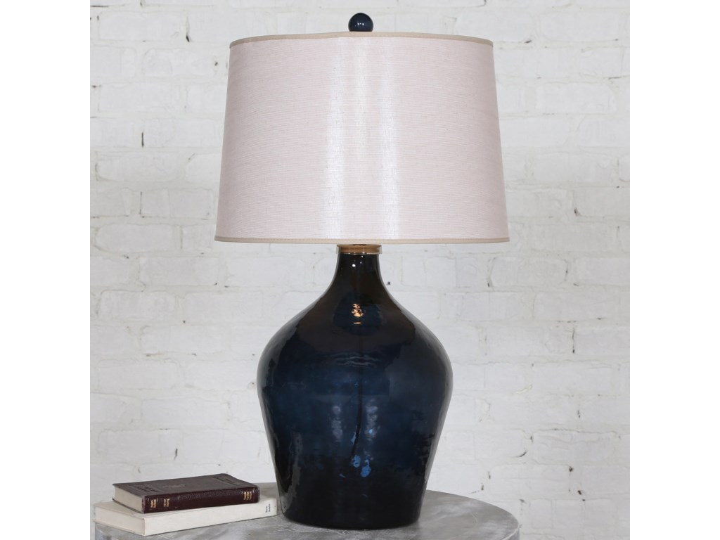 Uttermost Table LampsLamone Blue Glass Lamp