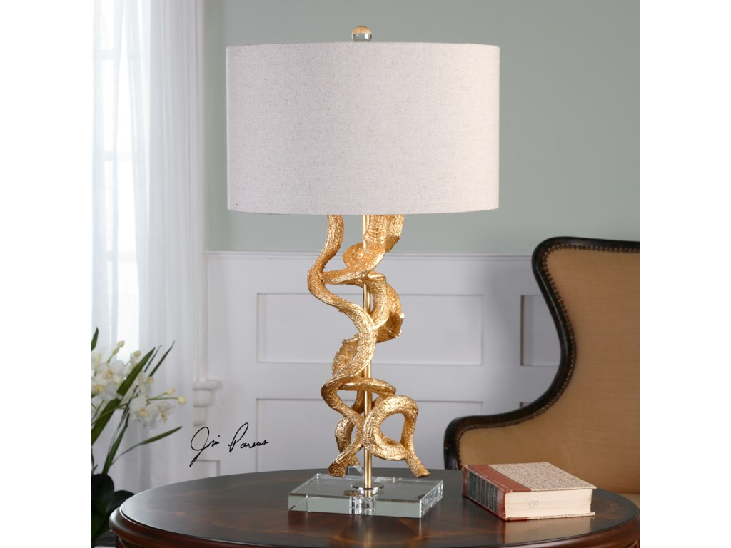 Uttermost Table LampsTwisted Vines Gold Table Lamp
