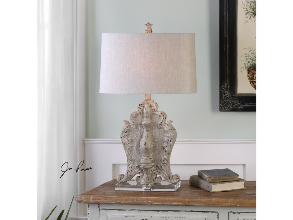 Uttermost Table LampsTriversa Distressed Table Lamp