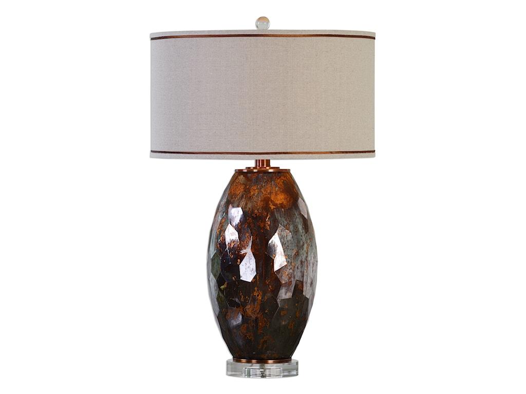 Uttermost Table LampsSabastian Bronze Glass Table Lamp