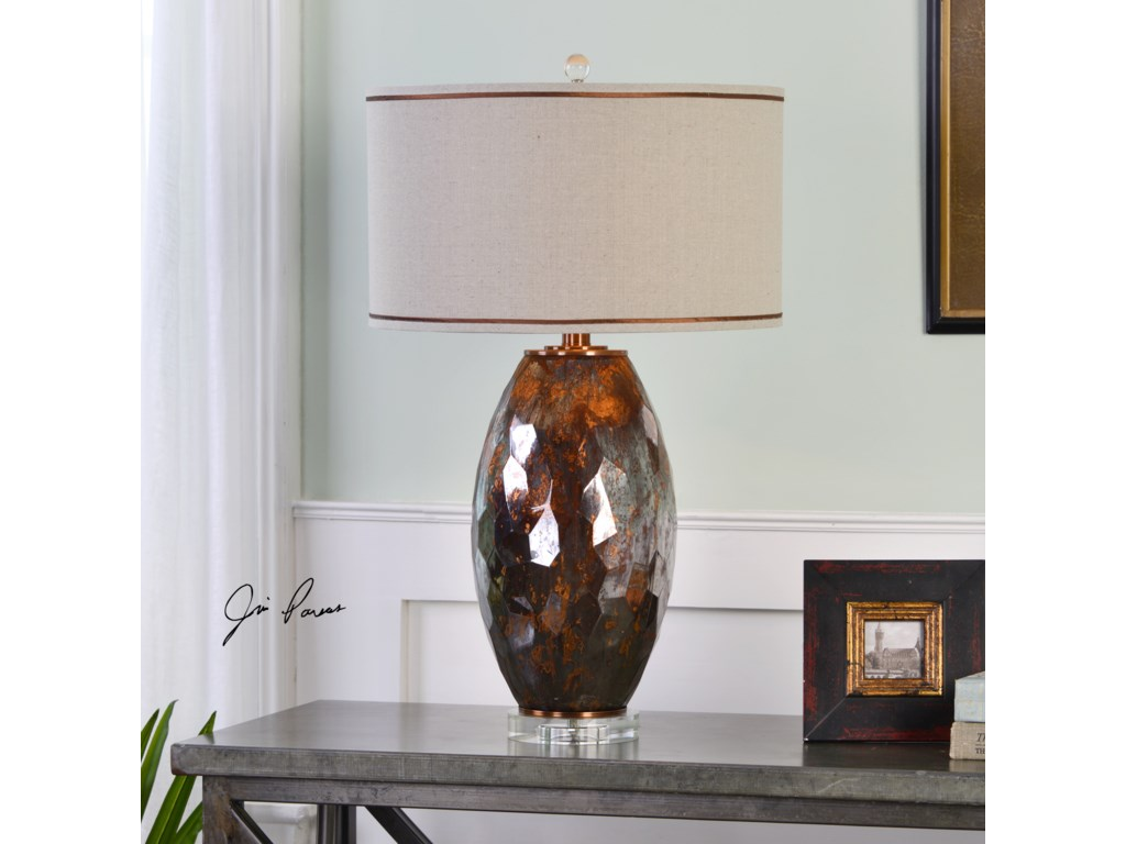 Uttermost Table LampsSabastian Bronze Glass Table Lamp