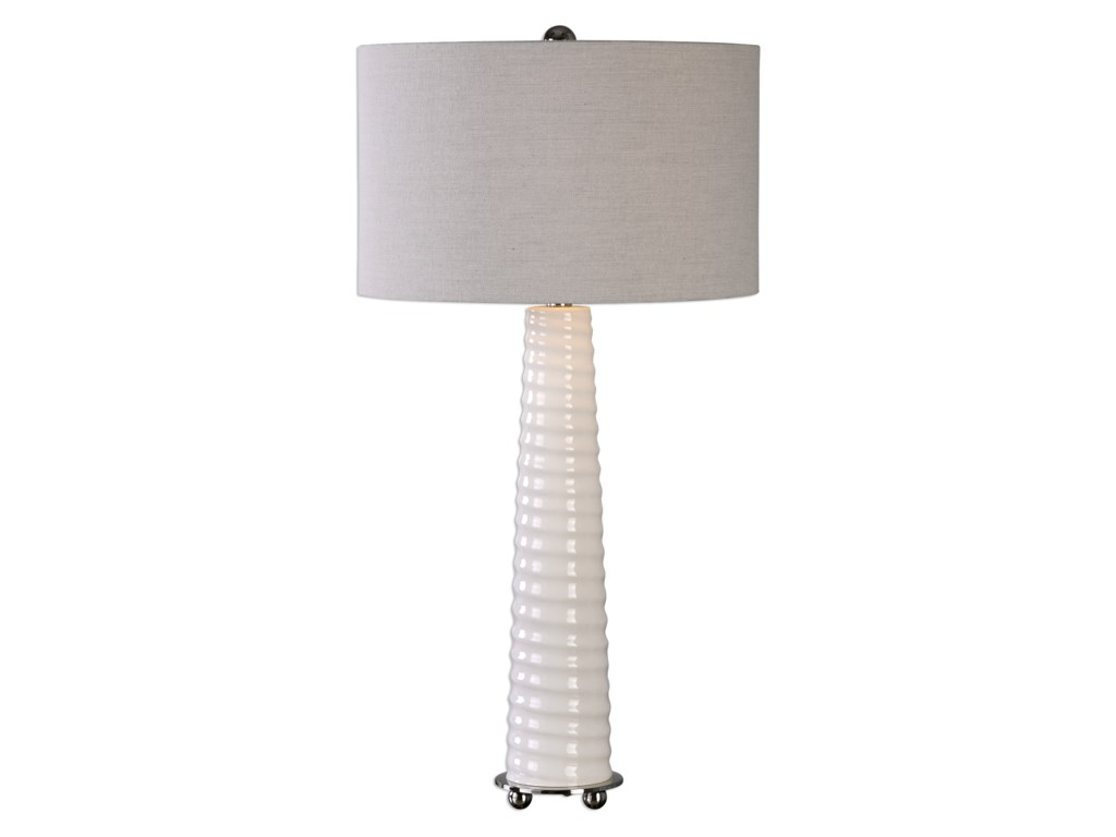 Uttermost Table LampsMavone Gloss White Table Lamp