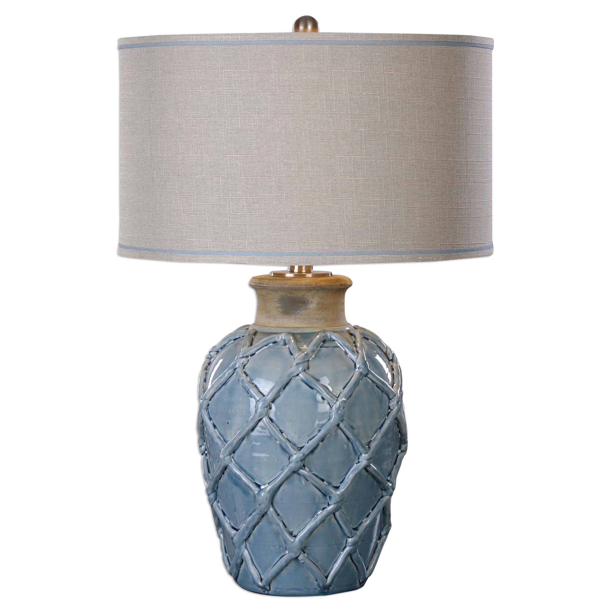 Uttermost LampsParterre Pale Blue Table Lamp ...