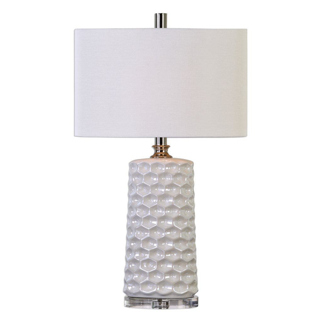 Uttermost Table Lamps Sesia White Honeycomb Table Lamp Howell