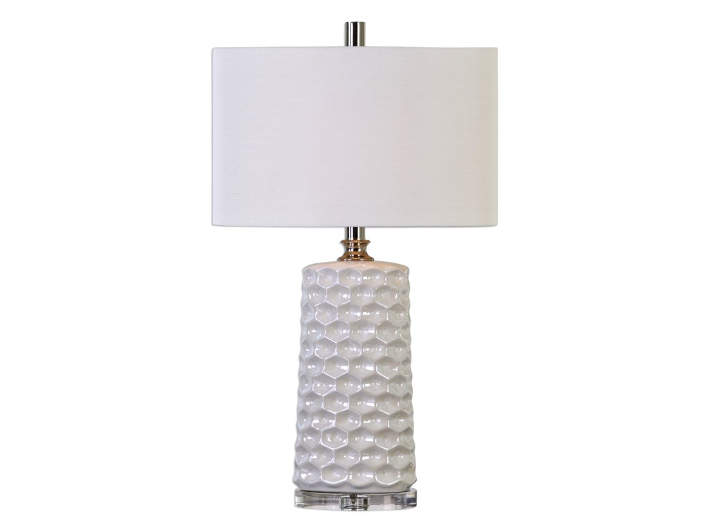 Uttermost Table LampsSesia White Honeycomb Table Lamp