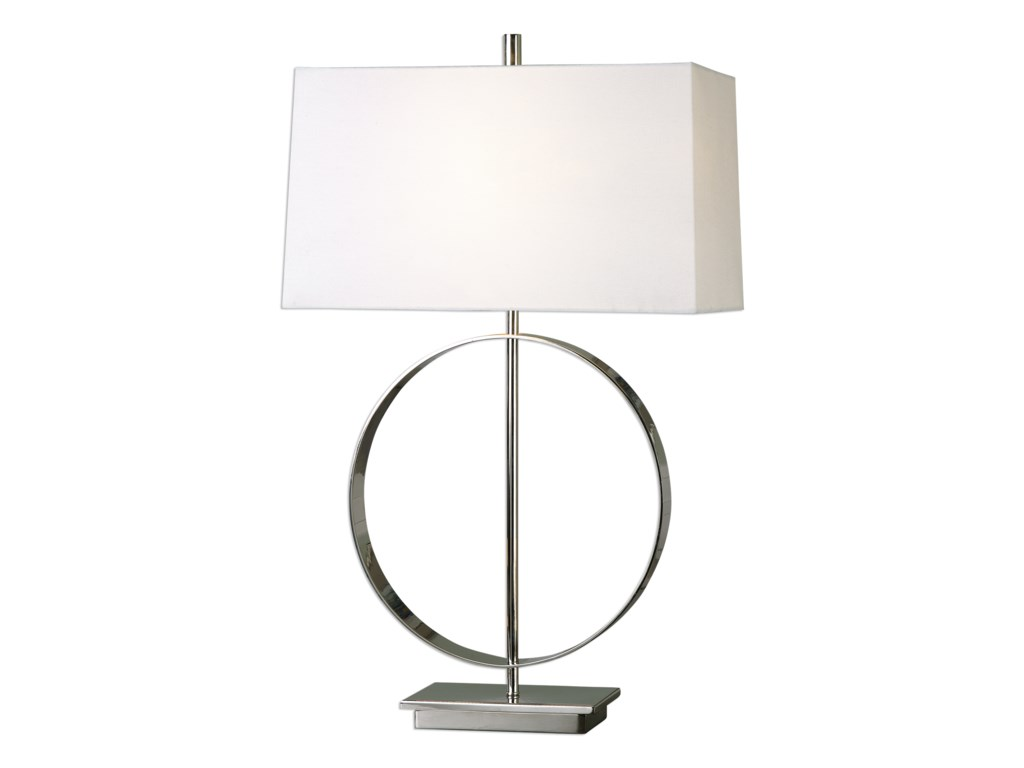 Uttermost Table LampsAddison Polished Nickel Lamp