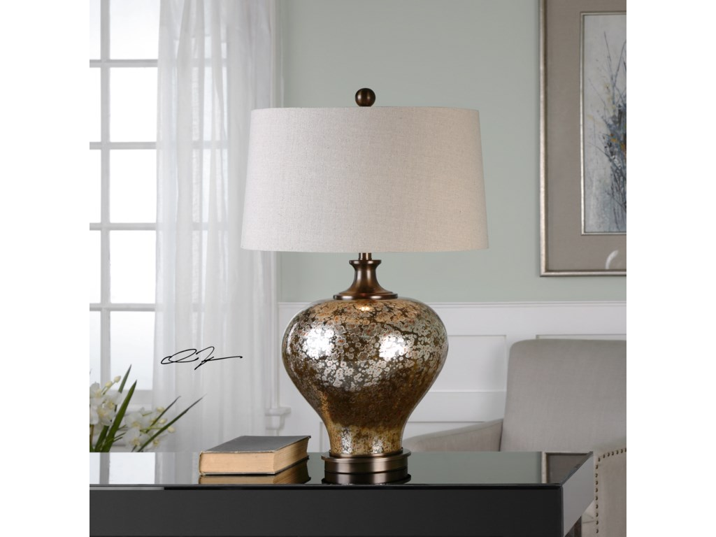 Uttermost Table LampsLiro Mercury Glass Table Lamp