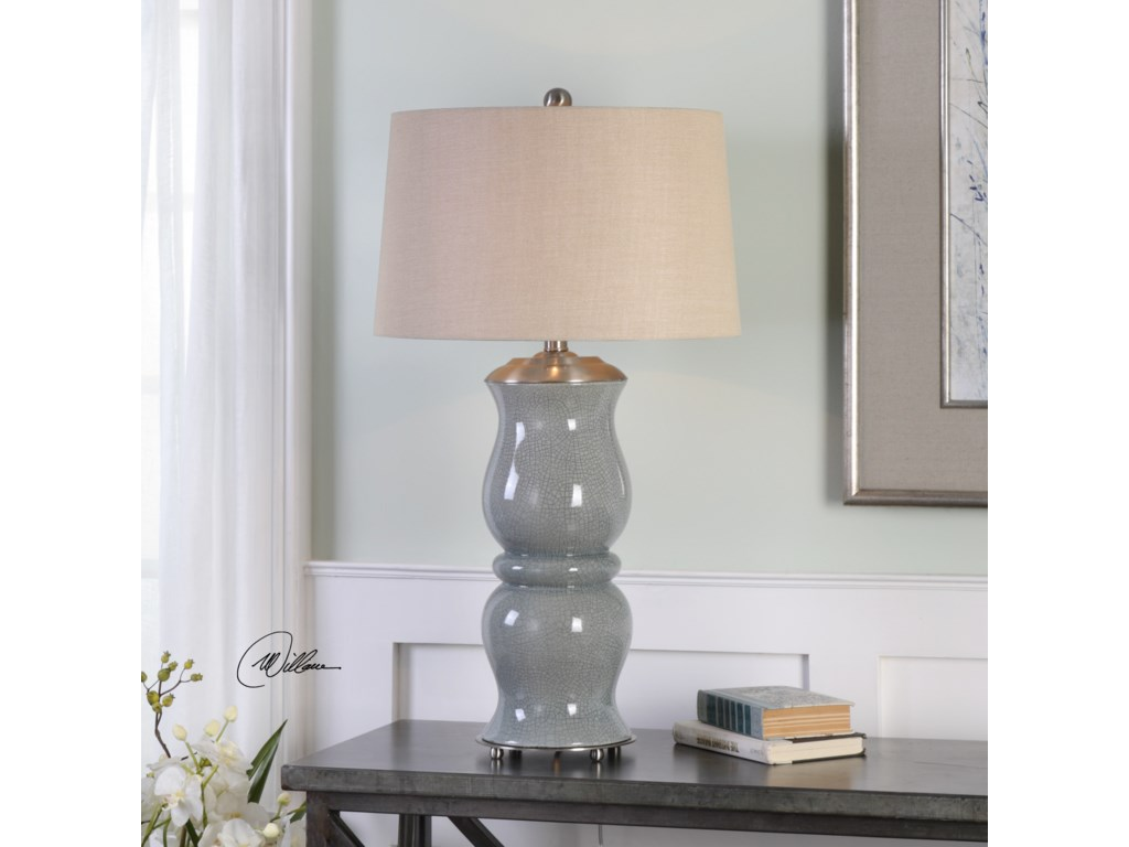Uttermost Table LampsCannobino Pale Blue Table Lamp