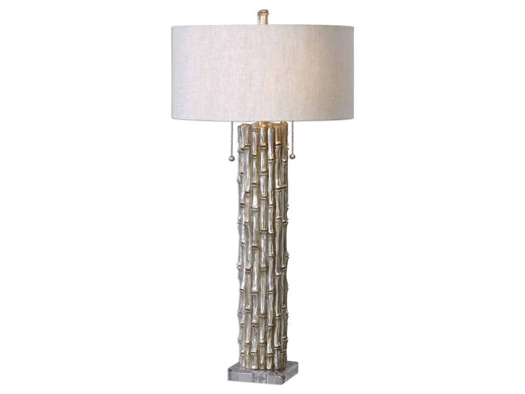 Lamps silver bamboo table lamp ruby gordon furniture mattresses uttermost lampssilver bamboo table lamp aloadofball Image collections