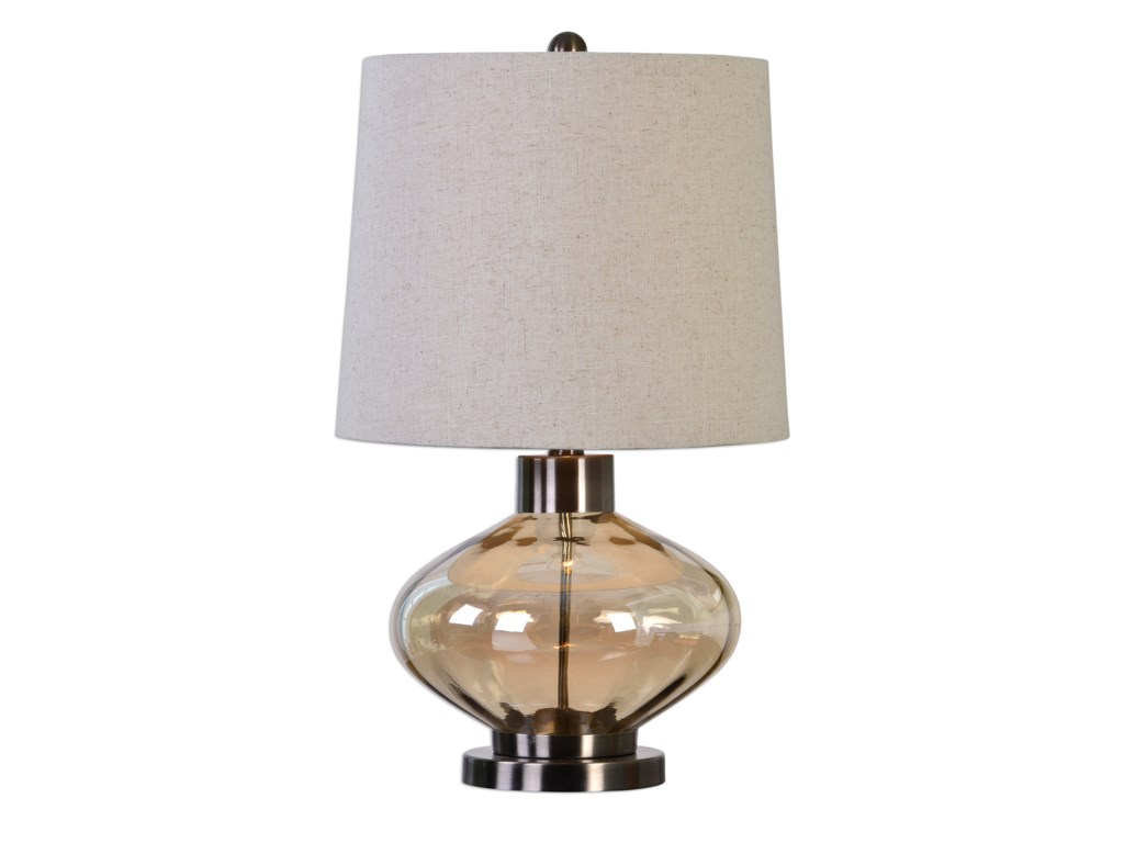 Uttermost Table LampsSava Amber Glass Lamp