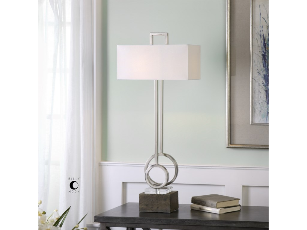 Uttermost Table LampsDeshka Brushed Nickel Table Lamp