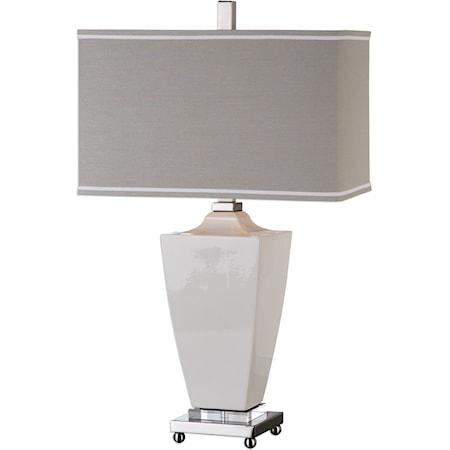Rochelle White Glaze Table Lamp