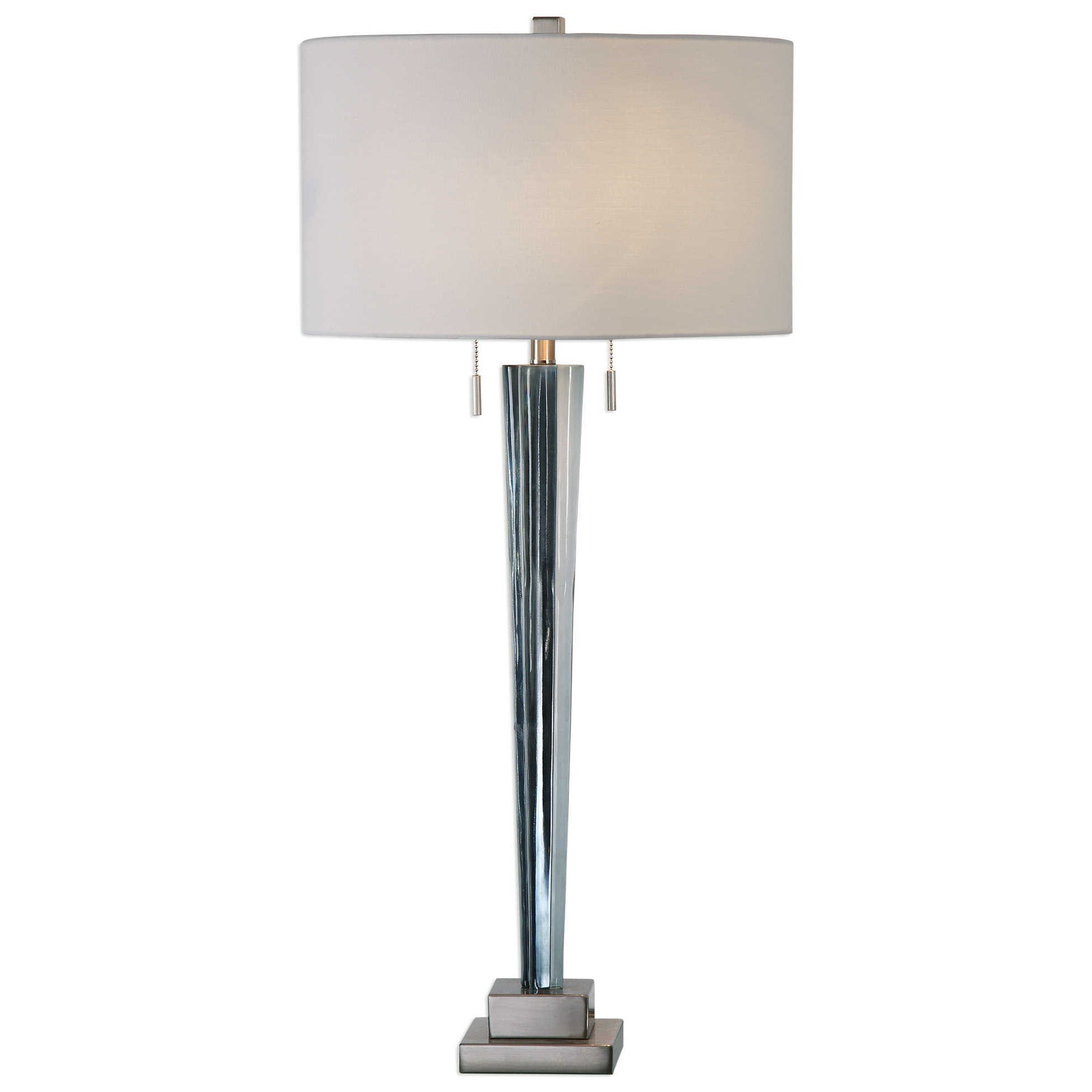 Uttermost Lamps Afina Brushed Nickel Table Lamp