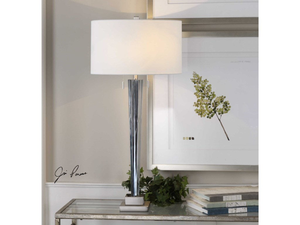 Uttermost Table LampsAfina Brushed Nickel Table Lamp