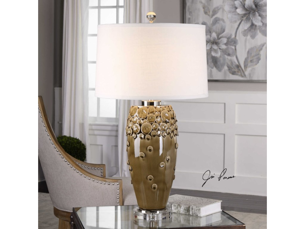 Uttermost Table LampsZacapa Brown Ceramic Table Lamp