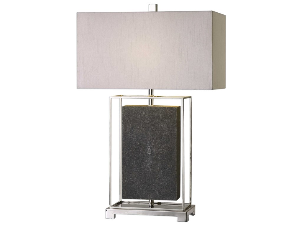 Uttermost Table LampsSakana Gray Textured Table Lamp