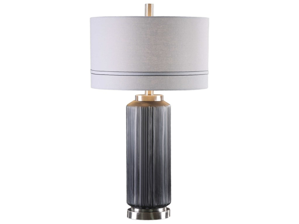 Uttermost LampsAkila Charcoal Glass Table Lamp