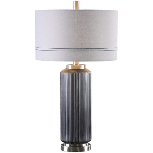 Uttermost Lamps Akila Charcoal Glass Table Lamp
