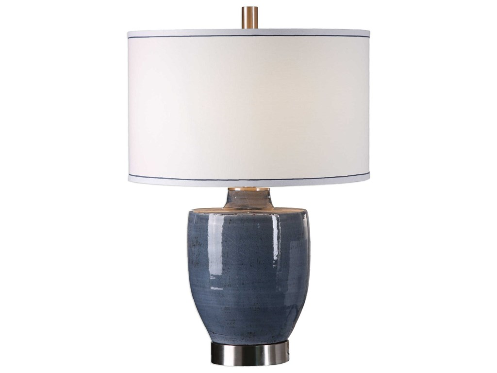 Uttermost Table LampsSylvaine Blue-Gray Glaze Lamp
