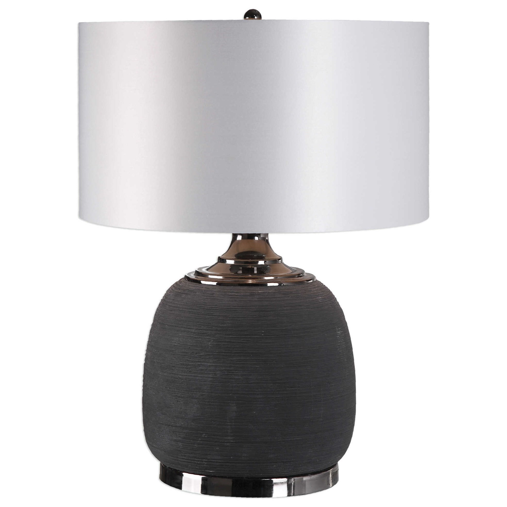 Uttermost LampsCharna Charcoal Ceramic Table Lamp ...