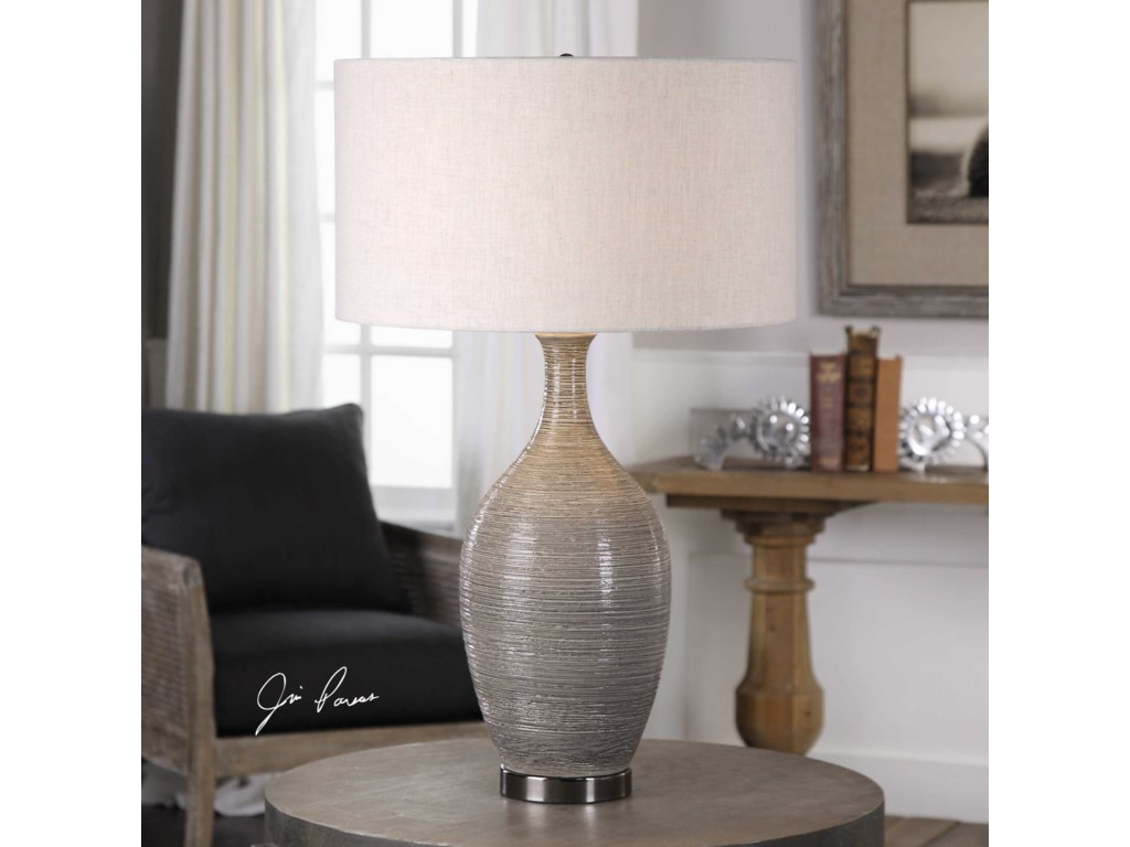 Uttermost Table LampsDinah Gray Textured Table Lamp