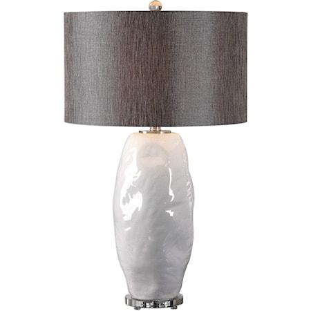 Assana Gloss White Table Lamp