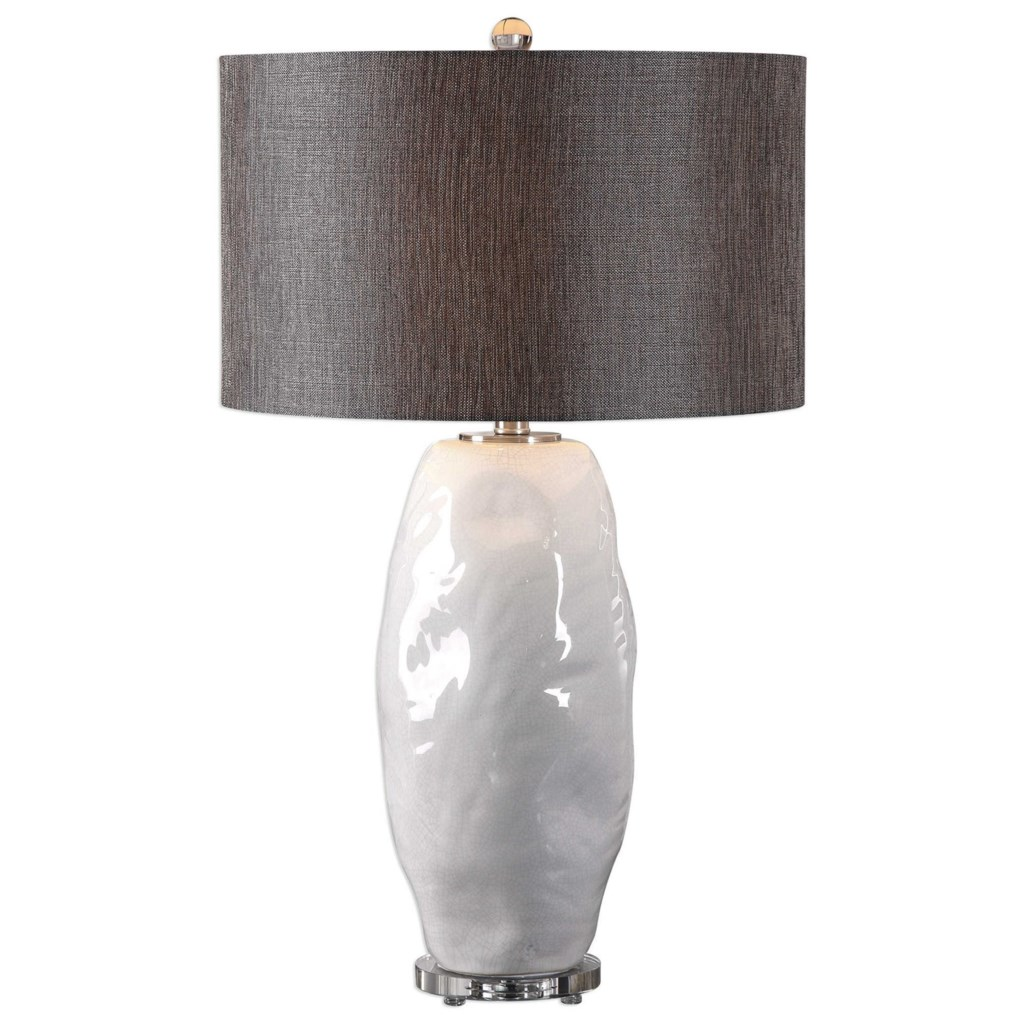 Uttermost Table Lamps 27519 1 Assana Gloss White Table Lamp Dunk