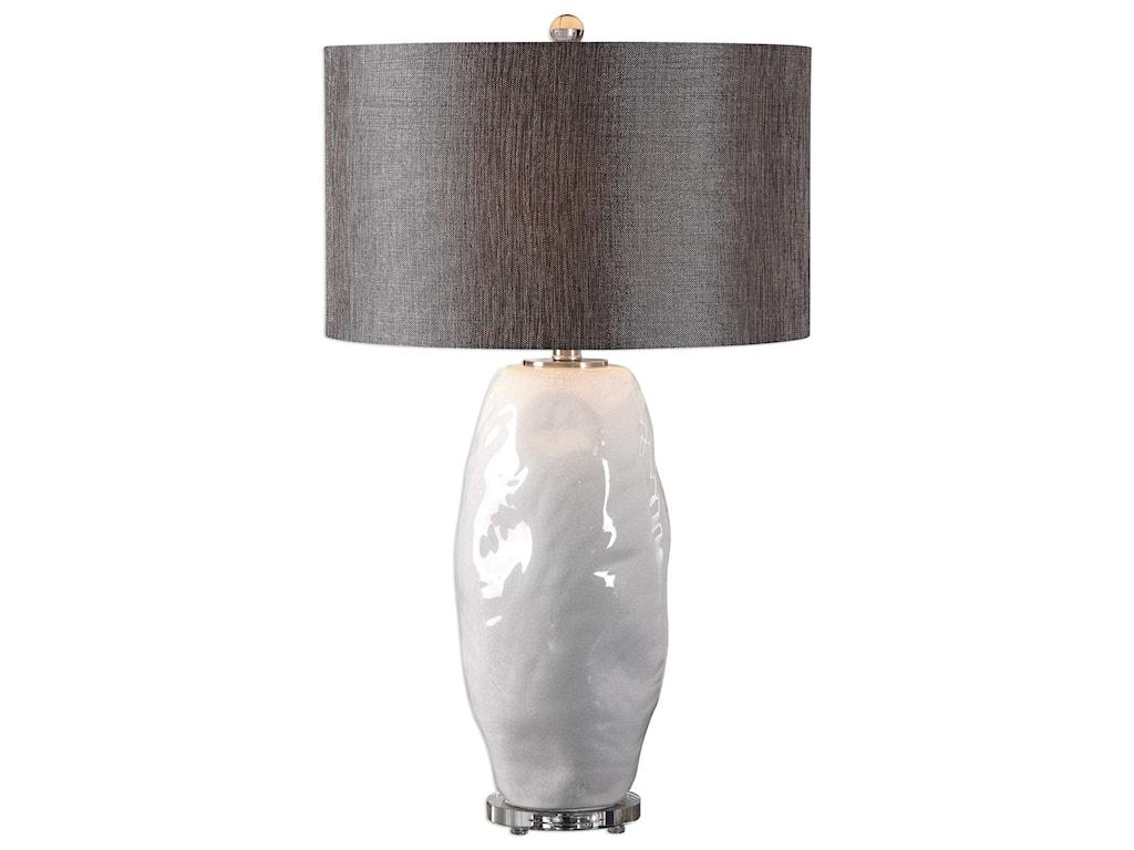Uttermost Table LampsAssana Gloss White Table Lamp