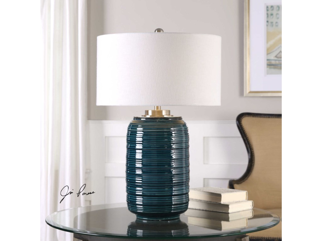 Uttermost Table LampsDelane Dark Teal Table Lamp