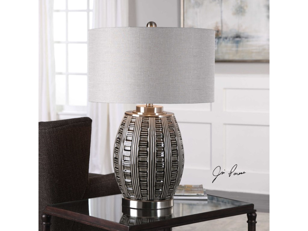 Uttermost Table LampsAura Ash Black Glaze Lamp