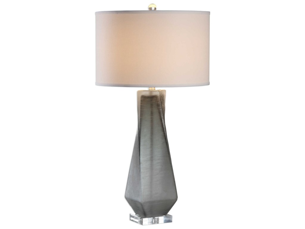 Uttermost Table LampsAnatoli Charcoal Gray Table Lamp