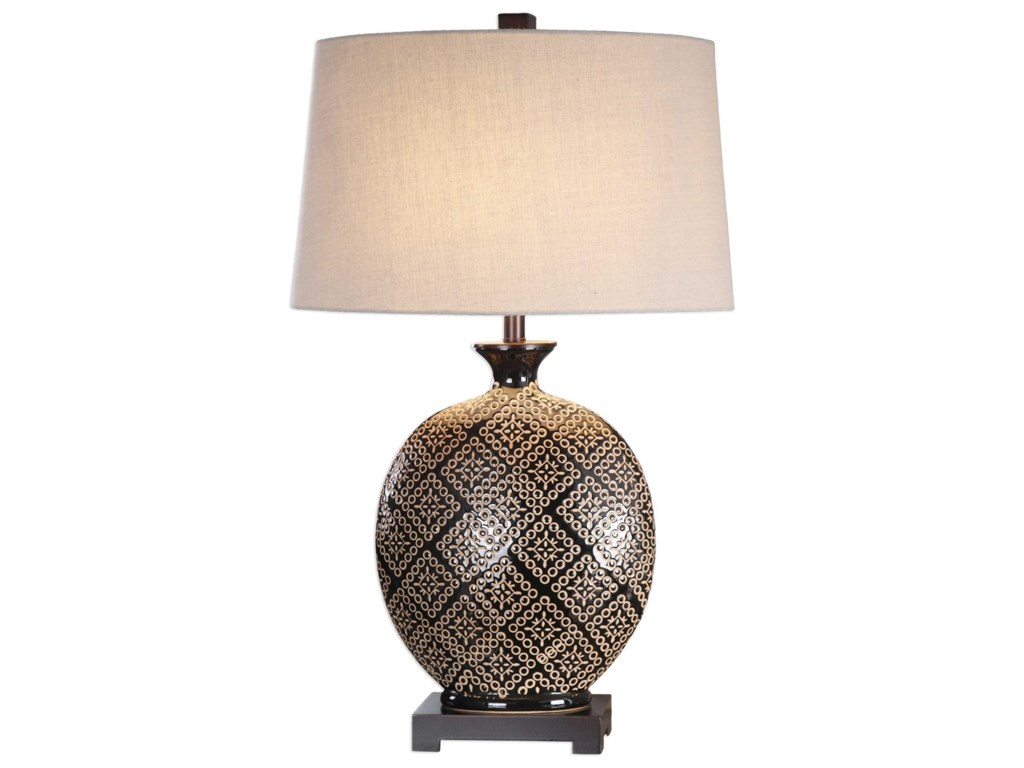 Uttermost Table LampsKelda Gloss Black Glazed Lamp