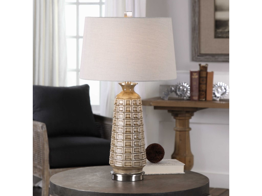 Uttermost Table LampsBelser Brown Glaze Table Lamp