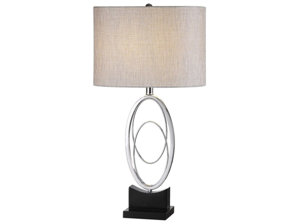 Uttermost Table LampsSavant Polished Nickel Table Lamp