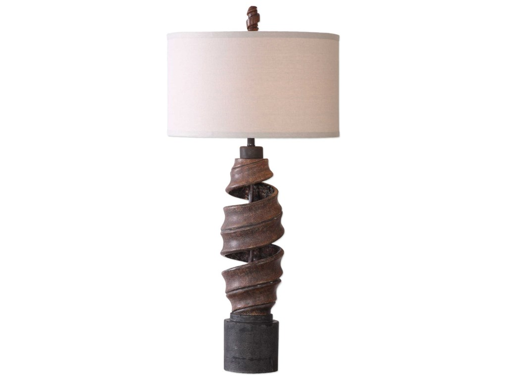 Uttermost Table LampsAbrose Twisted Table Lamp