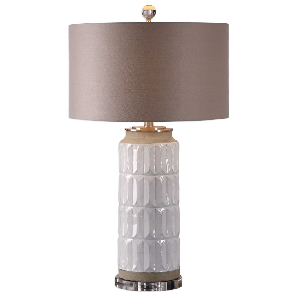 Uttermost Lamps Athilda Gloss White Table Lamp Howell Furniture