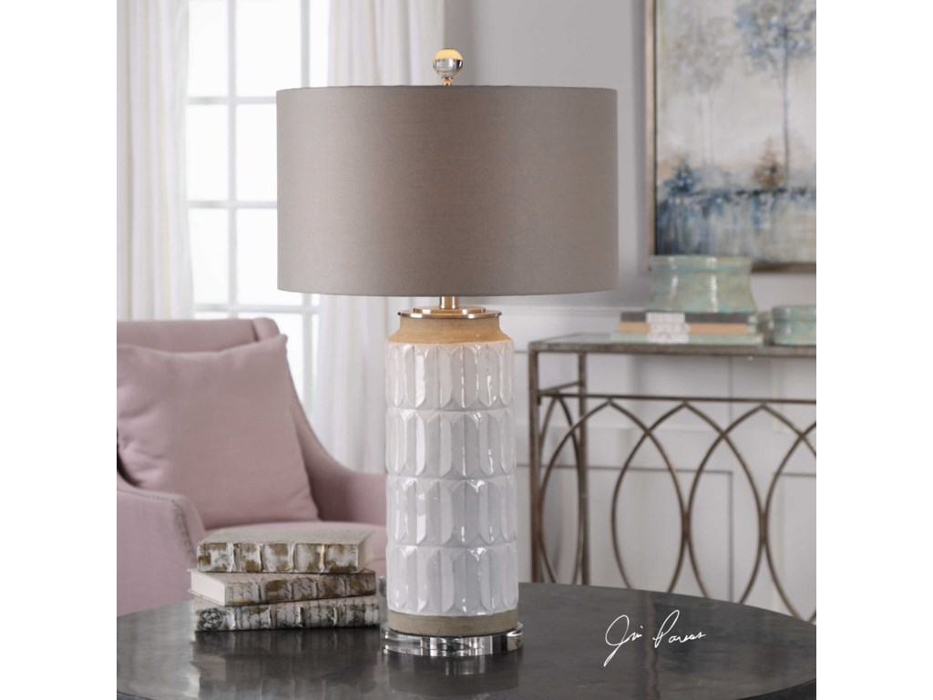 Uttermost Table LampsAthilda Gloss White Table Lamp
