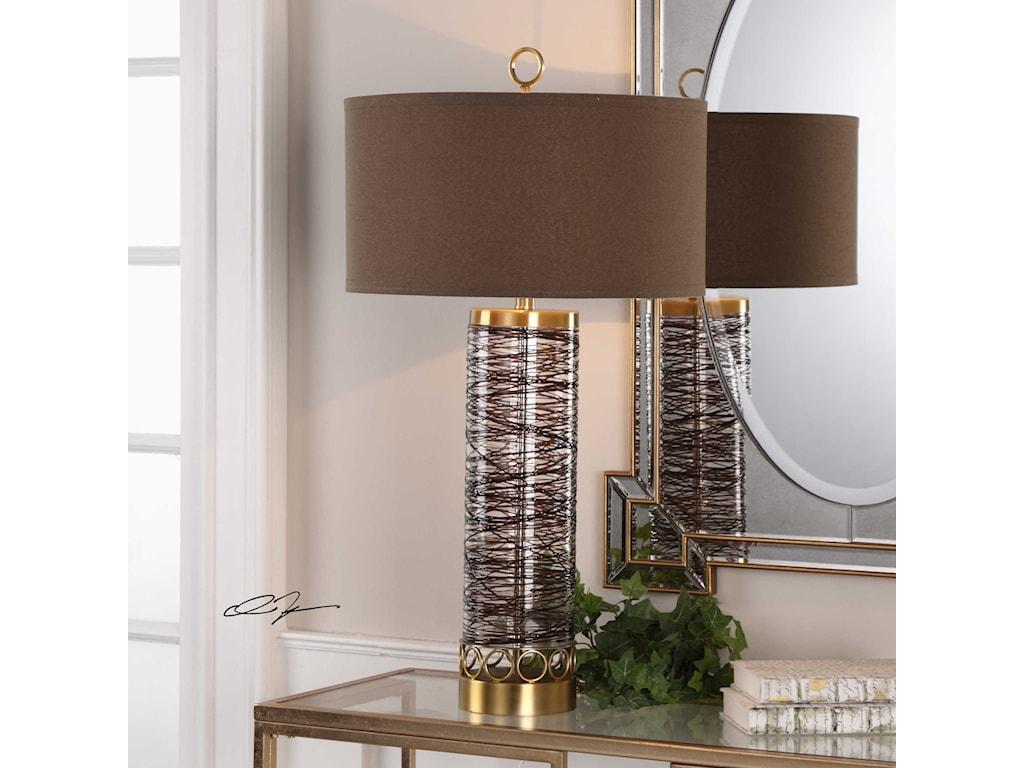 Uttermost Table LampsSeaver Spun Glass Table Lamp