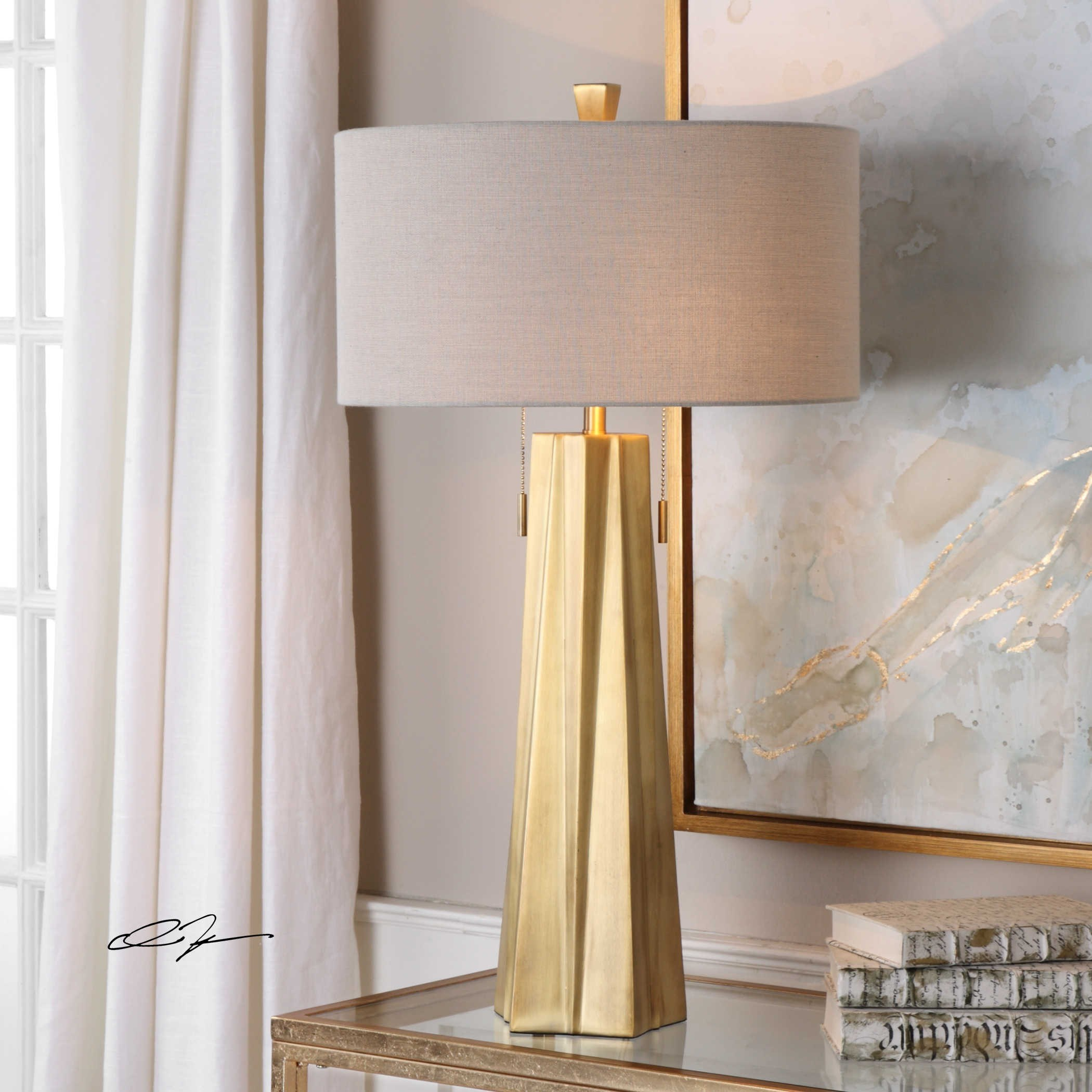uttermost lamps maris gold table lamp