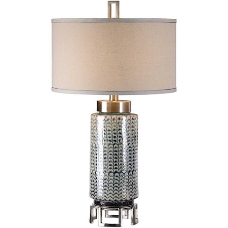 Vanora Cerulean Blue Table Lamp