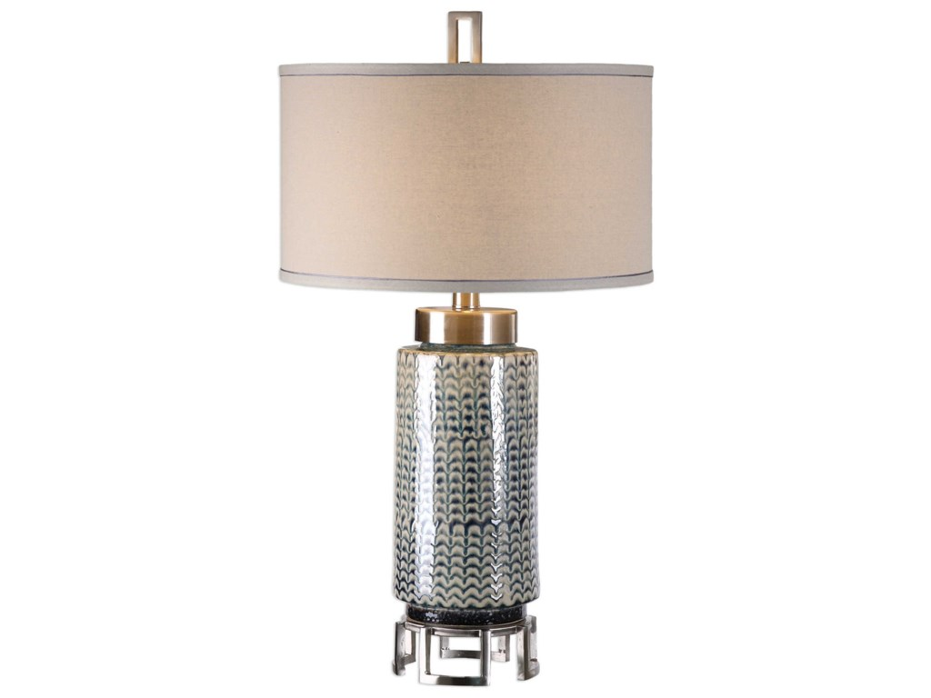 Uttermost Table LampsVanora Cerulean Blue Table Lamp