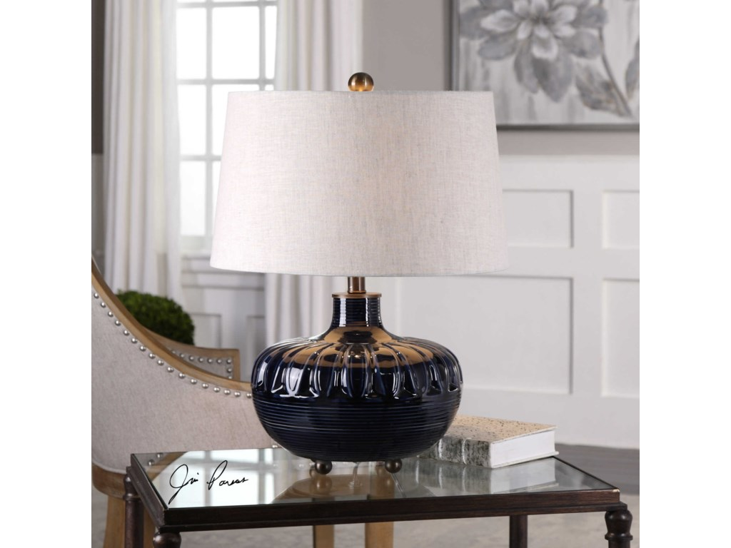Uttermost Table LampsLevane Midnight Blue Table Lamp