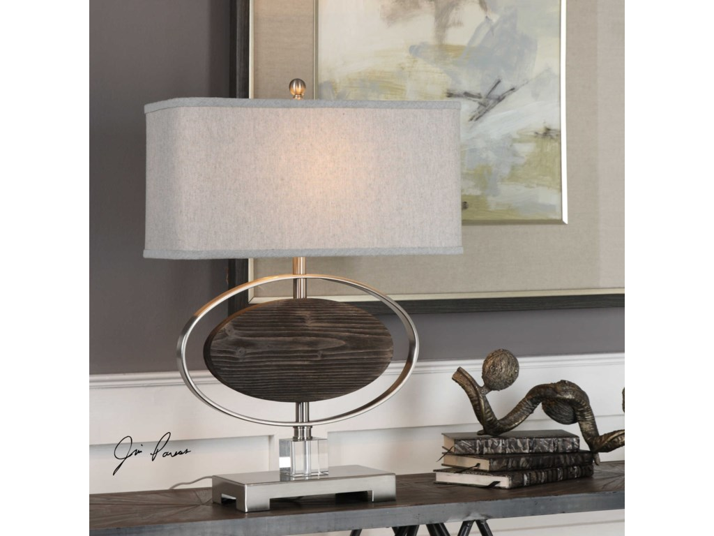 Uttermost Table LampsMalik Wood Oval Lamp